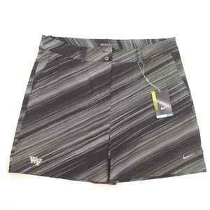 NIKE Women's Golf Skort Wake Forest Black Gray 12